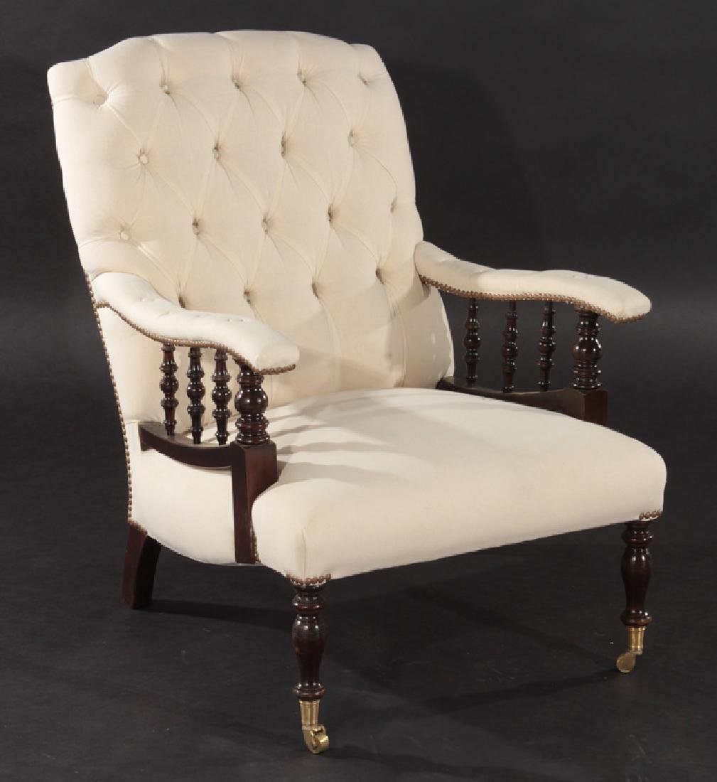 PAIR NAP III UPHOLSTERED CLUB CHAIRS 1940 - 2