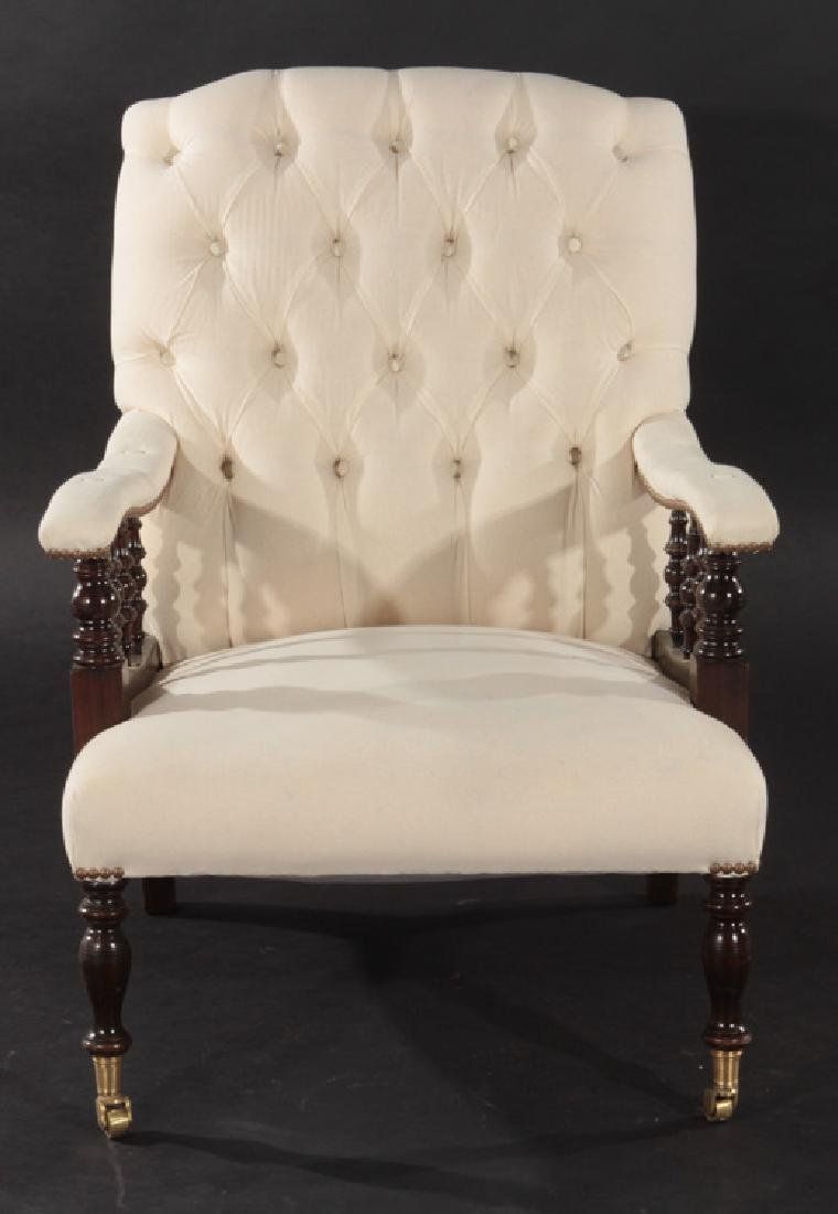 PAIR NAP III UPHOLSTERED CLUB CHAIRS 1940 - 3