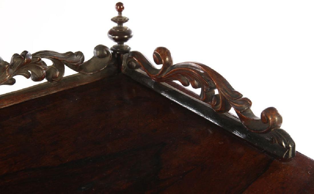 NAPOLEON III CARVED ROSEWOOD VITRINE 1870 - 4