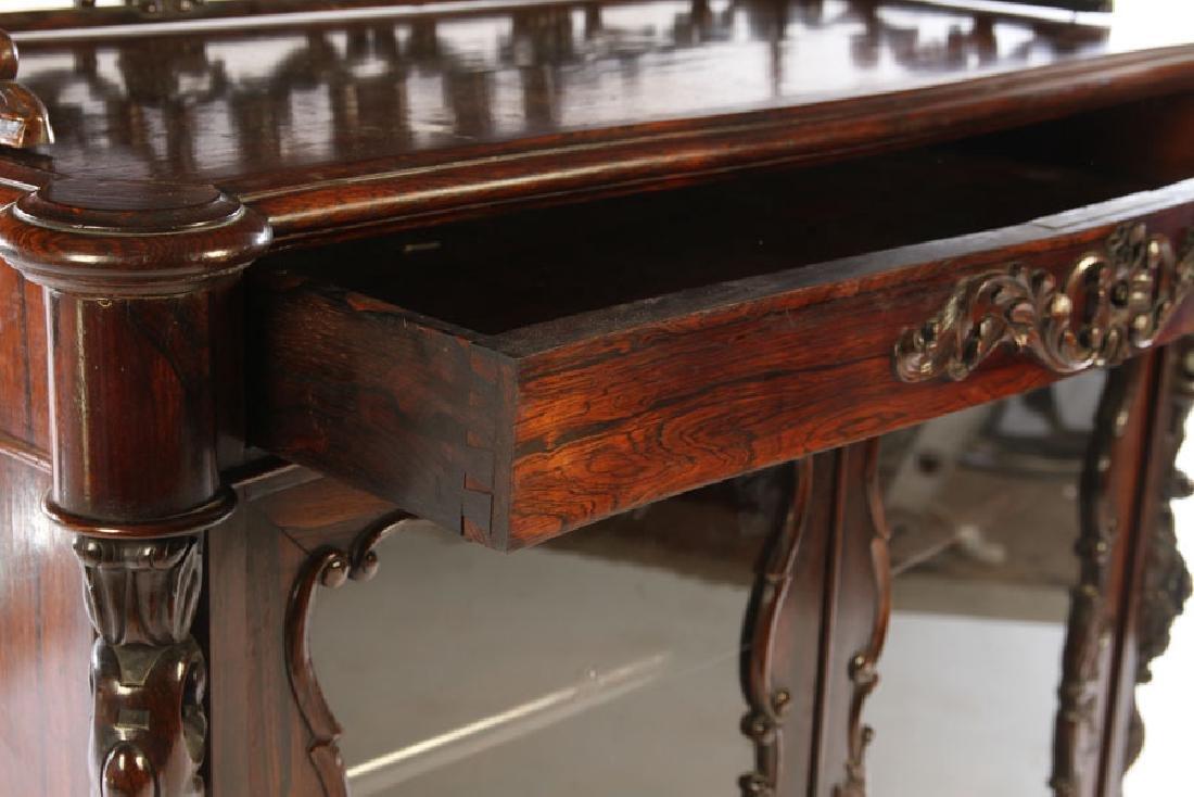 NAPOLEON III CARVED ROSEWOOD VITRINE 1870 - 5