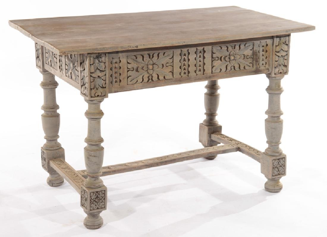 ITALIAN BLEACHED PAINTED WORK TABLE 1910