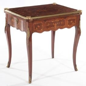 FRENCH LOUIS XV STYLE FLIP TOP GAMES TABLE