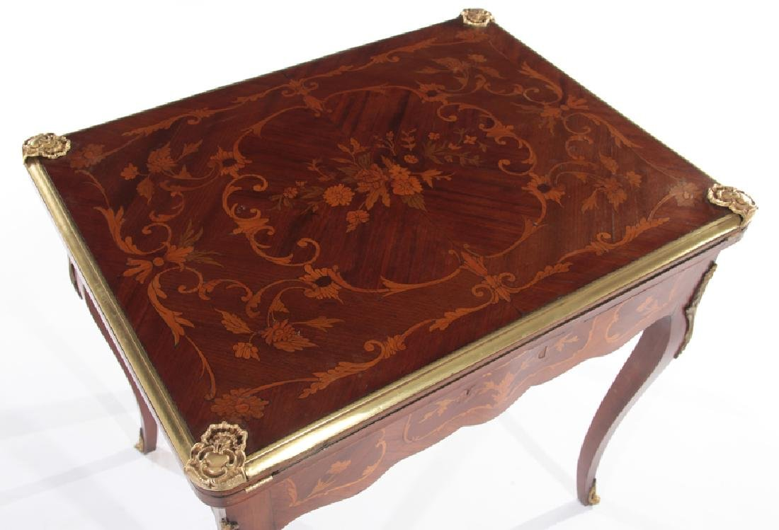 FRENCH LOUIS XV STYLE FLIP TOP GAMES TABLE - 2