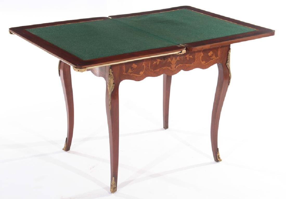 FRENCH LOUIS XV STYLE FLIP TOP GAMES TABLE - 3