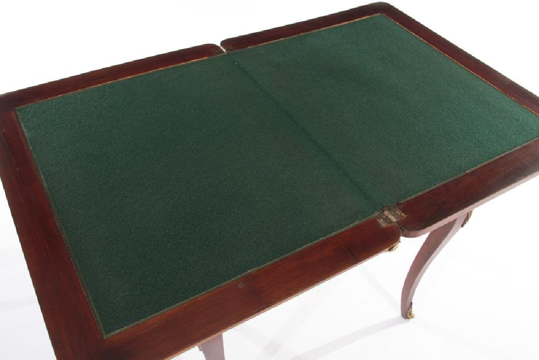 FRENCH LOUIS XV STYLE FLIP TOP GAMES TABLE - 4