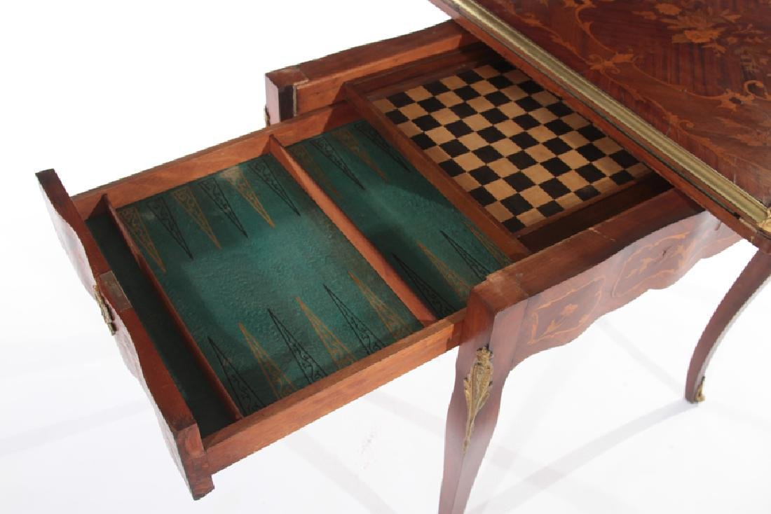 FRENCH LOUIS XV STYLE FLIP TOP GAMES TABLE - 5