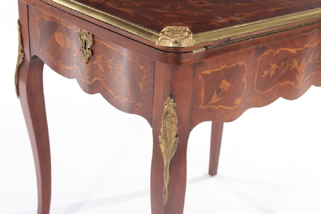 FRENCH LOUIS XV STYLE FLIP TOP GAMES TABLE - 6