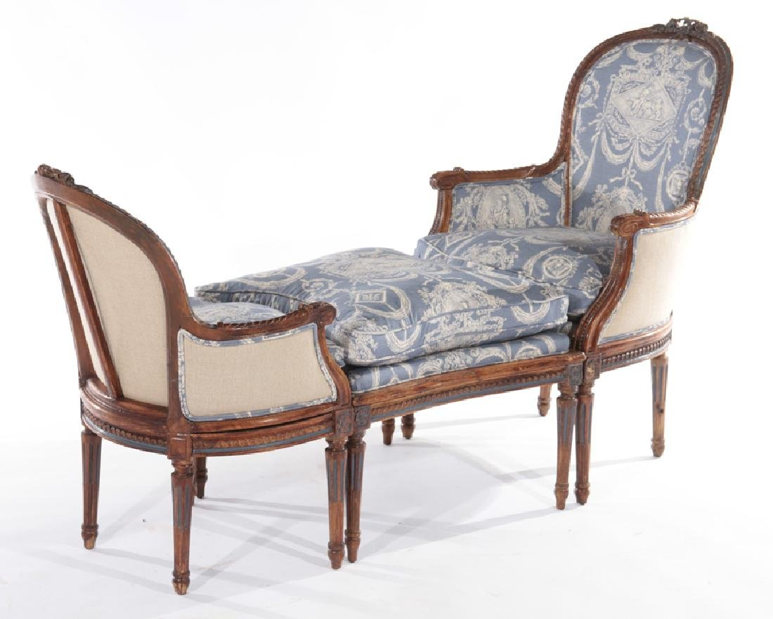 19TH CENT. FRENCH LOUIS XVI 3 PART CHAISE LOUNGE
