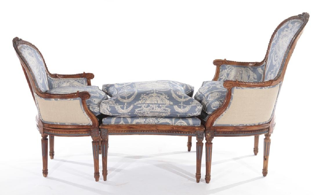 19TH CENT. FRENCH LOUIS XVI 3 PART CHAISE LOUNGE - 2