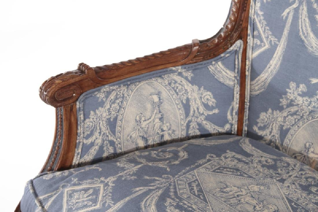 19TH CENT. FRENCH LOUIS XVI 3 PART CHAISE LOUNGE - 5