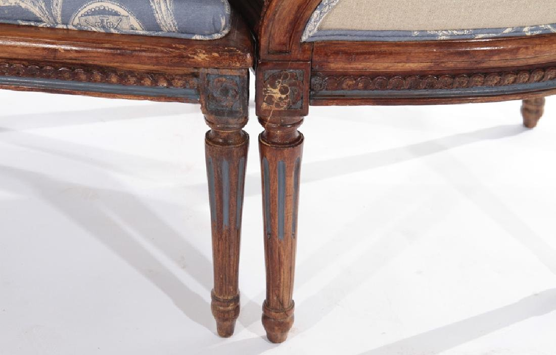 19TH CENT. FRENCH LOUIS XVI 3 PART CHAISE LOUNGE - 6