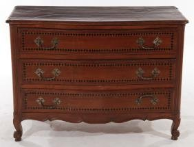19TH CENT. LOUIS XV STYLE SERPENTINE COMMODE