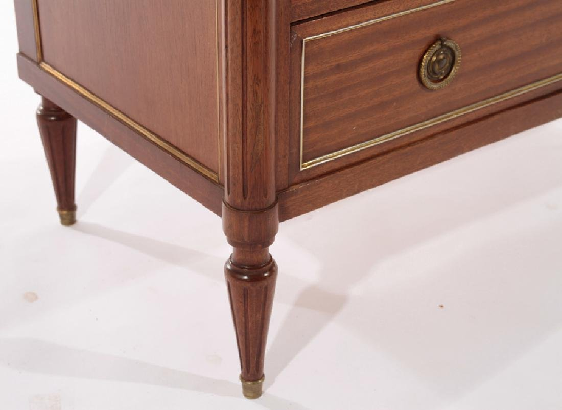 FRENCH DIRECTOIRE STYLE COMMODE MARBLE TOP 1940 - 5