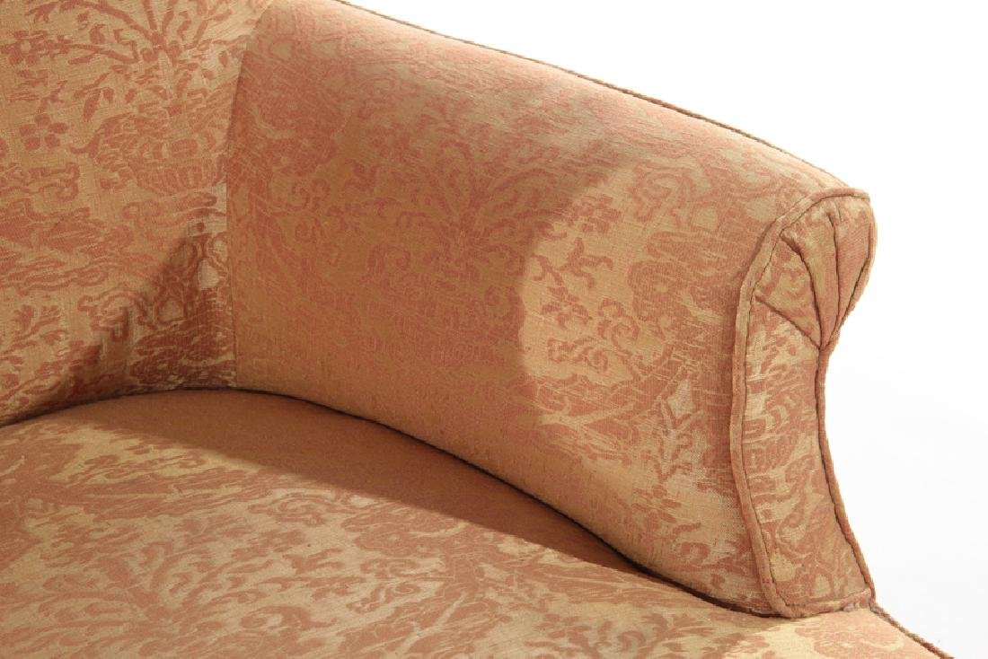 PAIR FRENCH NAPOLEAN III UPHOLSTERED CLUB CHAIRS - 4