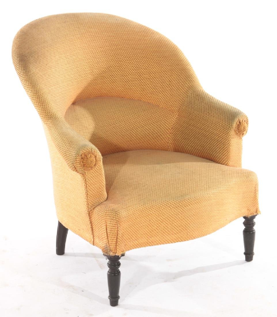 PAIR FRENCH NAPOLEAN III STYLE CLUB CHAIRS C.1940 - 2