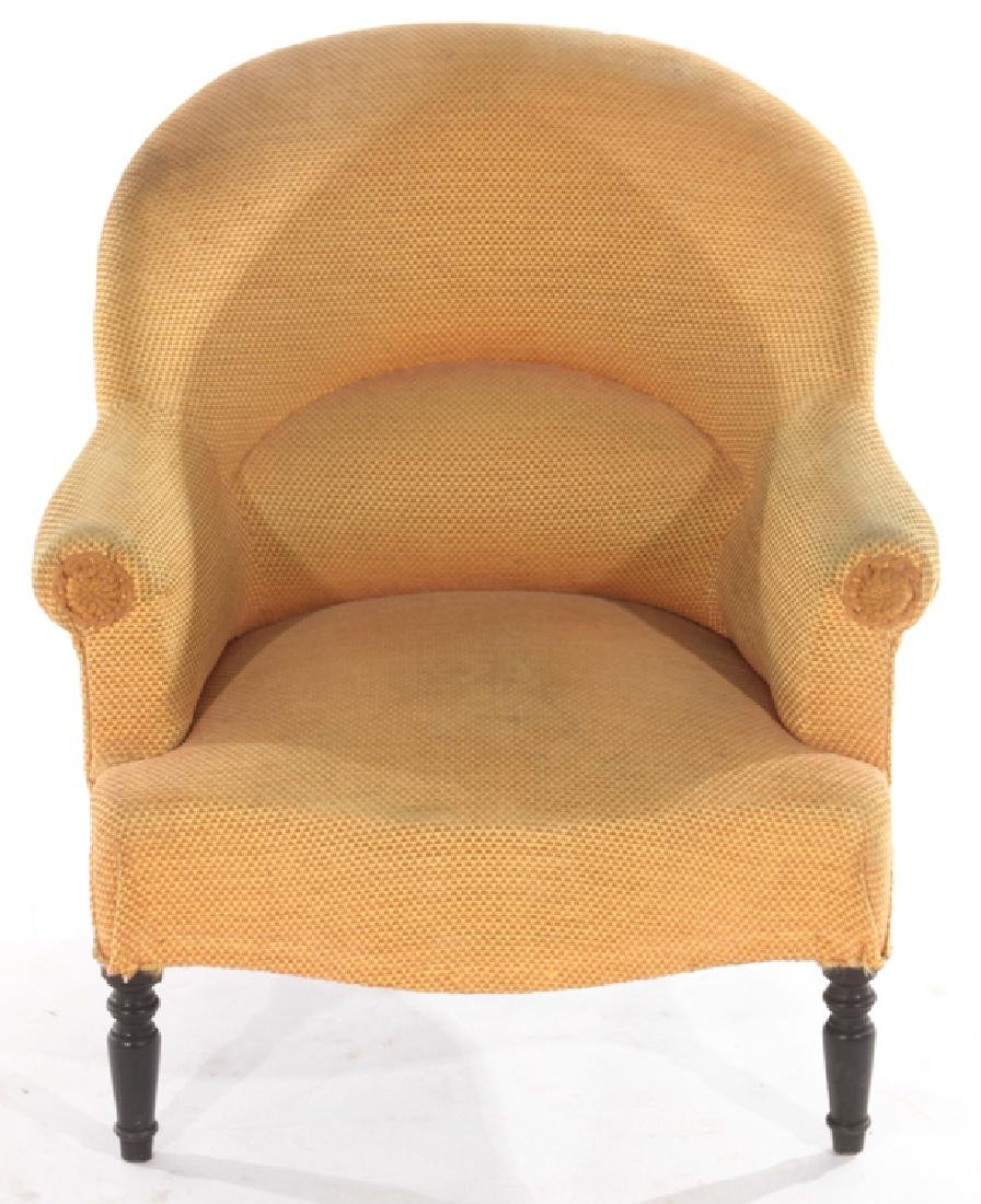 PAIR FRENCH NAPOLEAN III STYLE CLUB CHAIRS C.1940 - 3