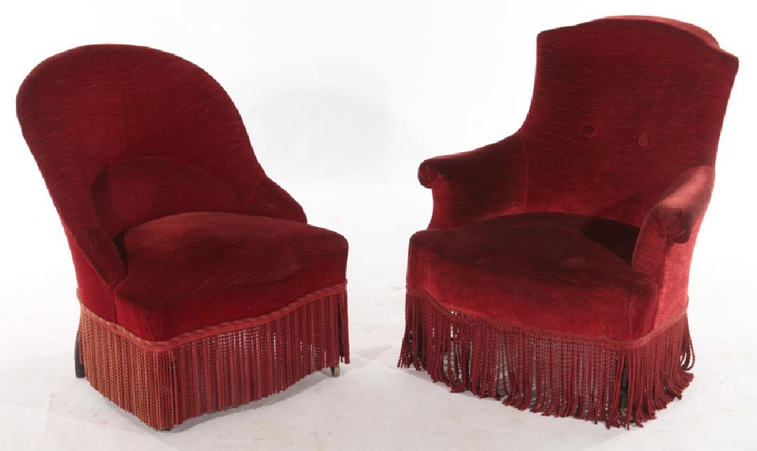 TWO SIMILAR NAPOLEON III CHAIRS C.1880