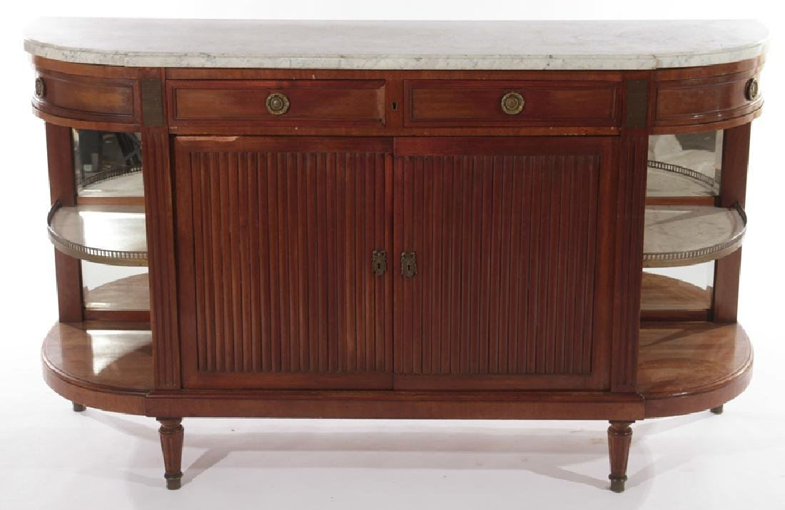 FRENCH LOUIS XVI MAHOGANY SIDEBOARD 1900