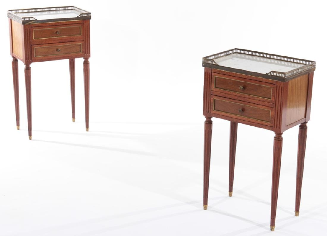 PAIR FRENCH LOUIS XVI END TABLES 1940