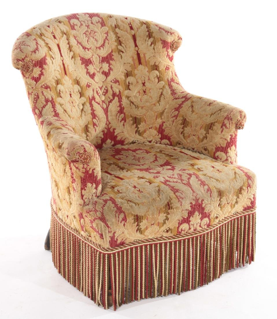 FRENCH 19TH CENT. NAPOLEON III CLUB CHAIR
