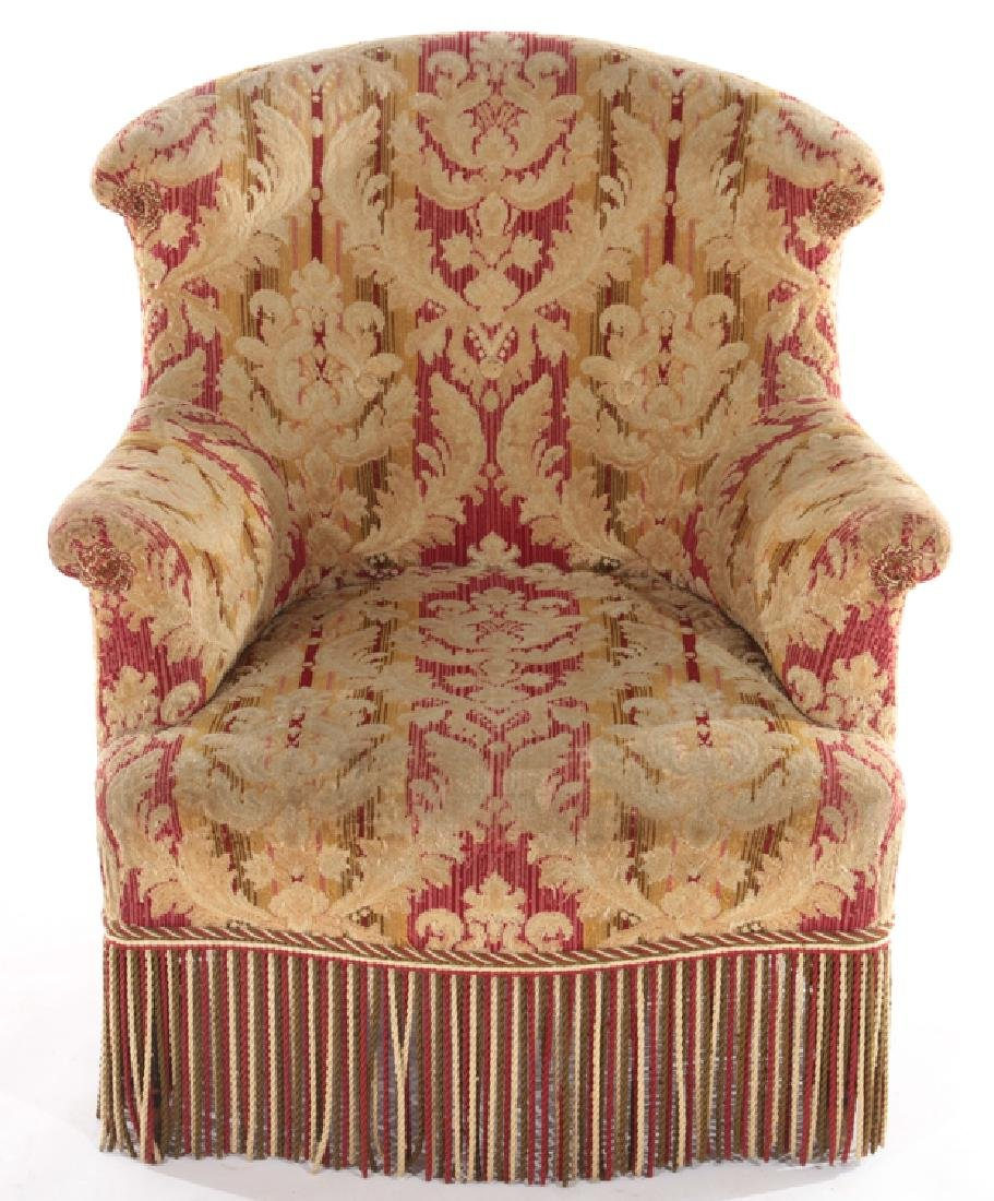 FRENCH 19TH CENT. NAPOLEON III CLUB CHAIR - 2