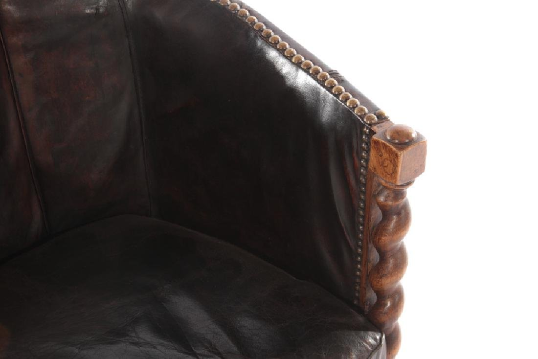 RENCH LEATHER UPHOLSTERED CLUB CHAIR 1940 - 3