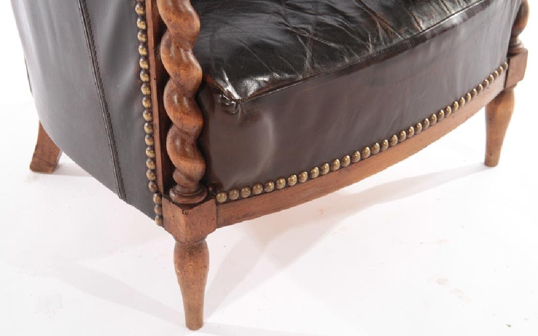 RENCH LEATHER UPHOLSTERED CLUB CHAIR 1940 - 4