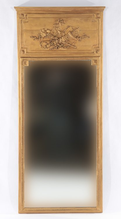 PAIR GOLD PAINTED TRUMEAU MIRRORS 1920 - 2
