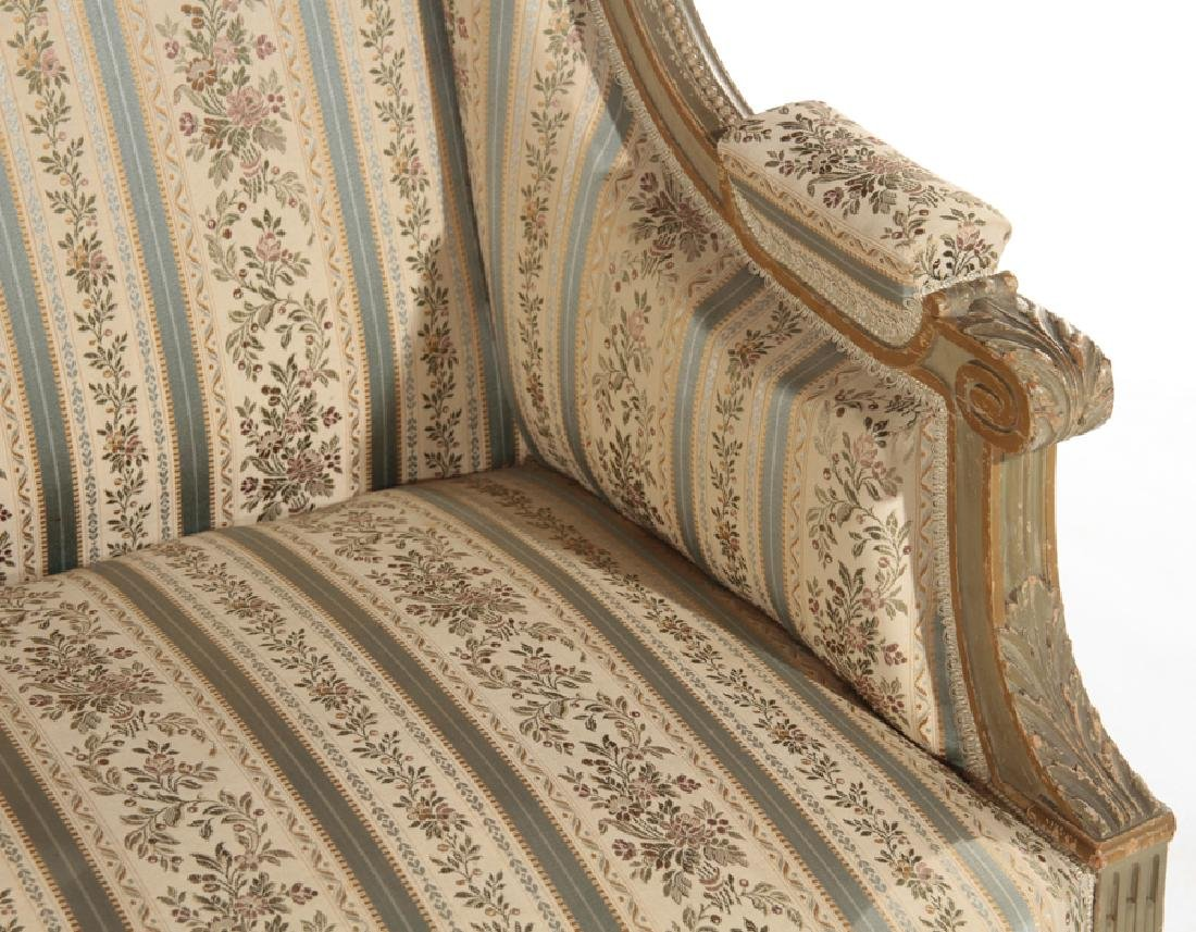 FRENCH LOUIS XVI STYLE CARVED SETTEE C.1940 - 3