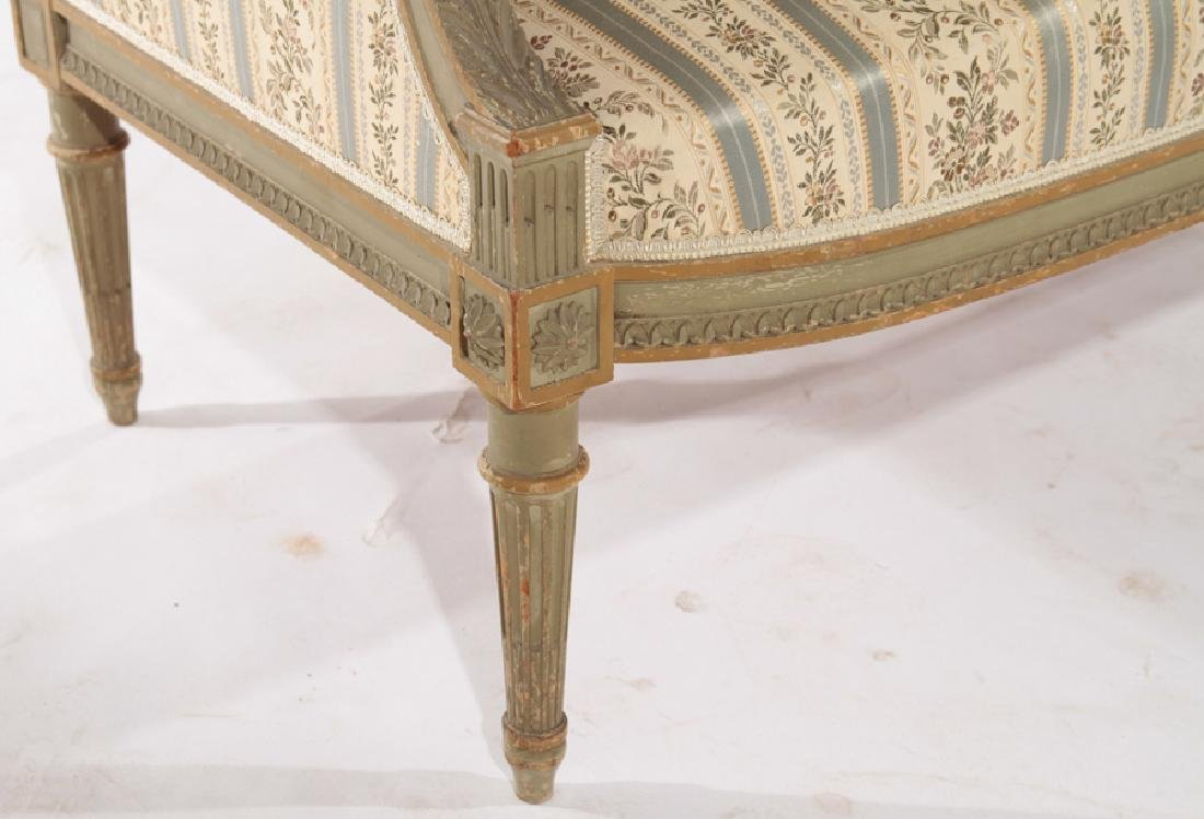 FRENCH LOUIS XVI STYLE CARVED SETTEE C.1940 - 4