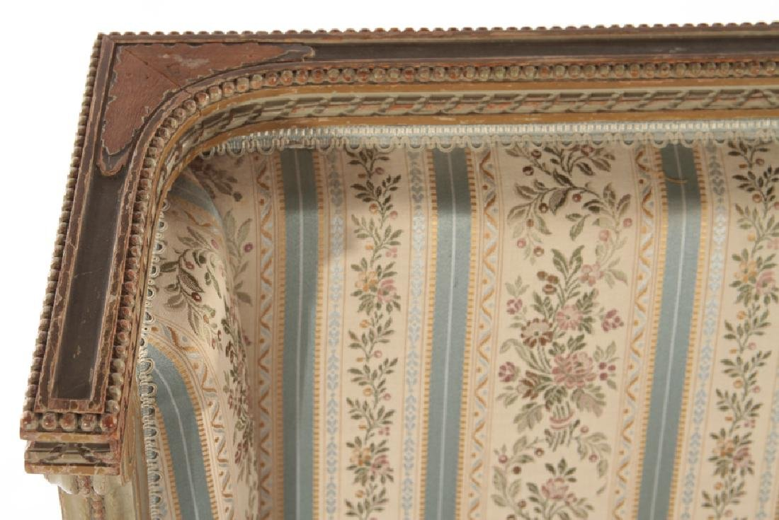 PAIR FRENCH LOUIS XVI STYLE CARVED BERGERES 1940 - 7
