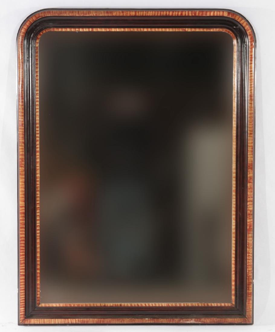 FRENCH 19TH CENT. LOUIS PHILIPPE PAINTED MIRROR