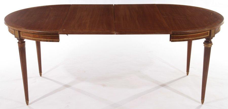 FRENCH LOUIS XVI MAHOGANY DINING TABLE 1940 - 3