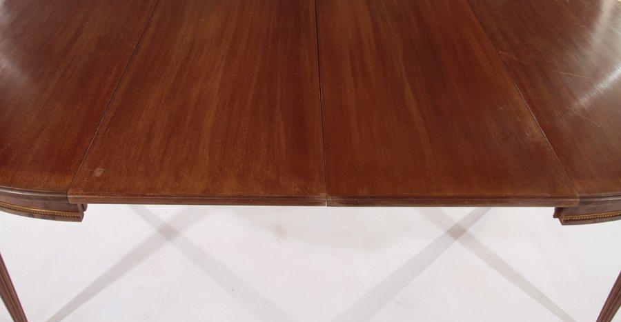 FRENCH LOUIS XVI MAHOGANY DINING TABLE 1940 - 4