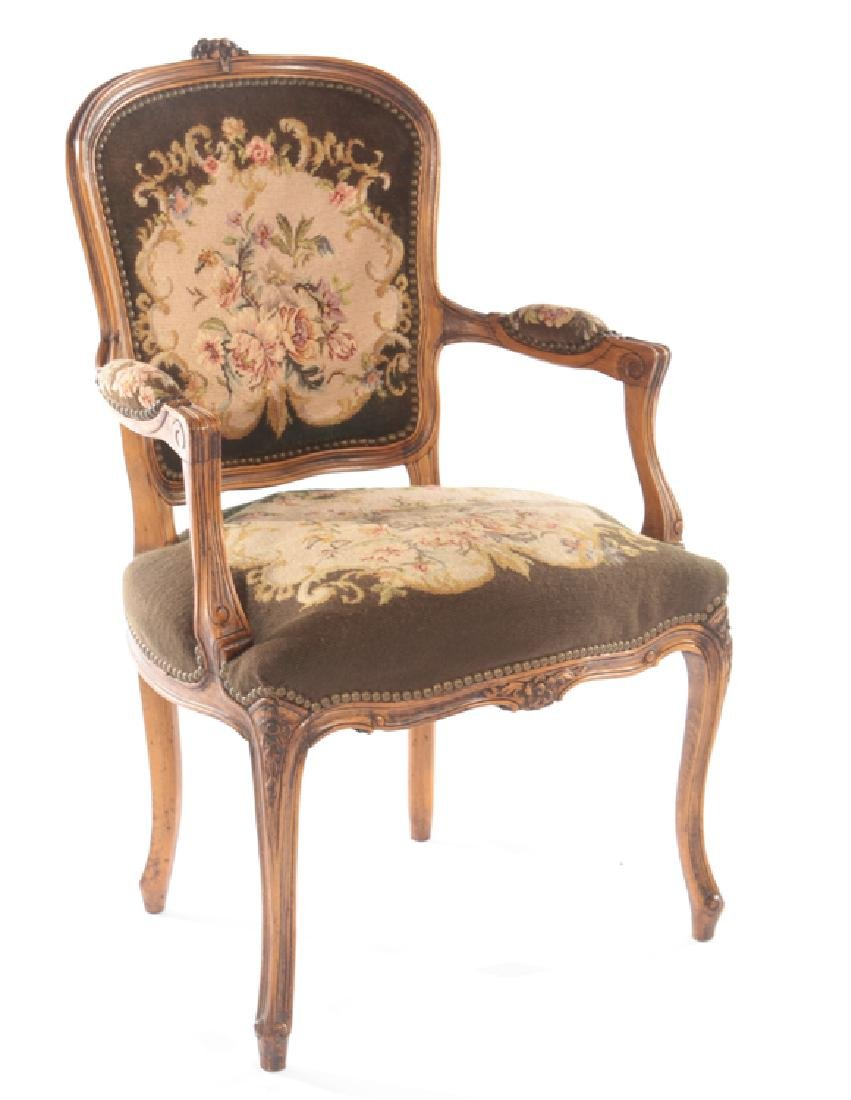 PR LOUIS XVI UPHOLSTERED ARM CHAIRS 1940 - 2