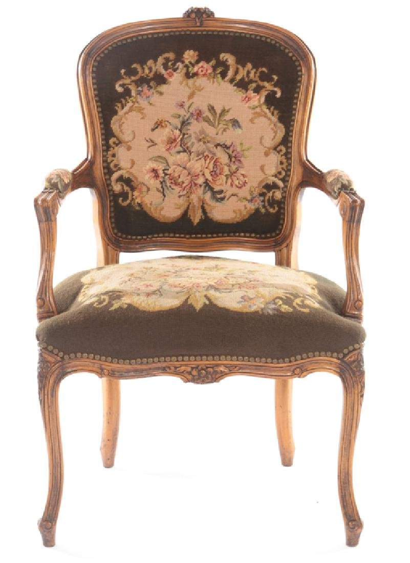 PR LOUIS XVI UPHOLSTERED ARM CHAIRS 1940 - 3