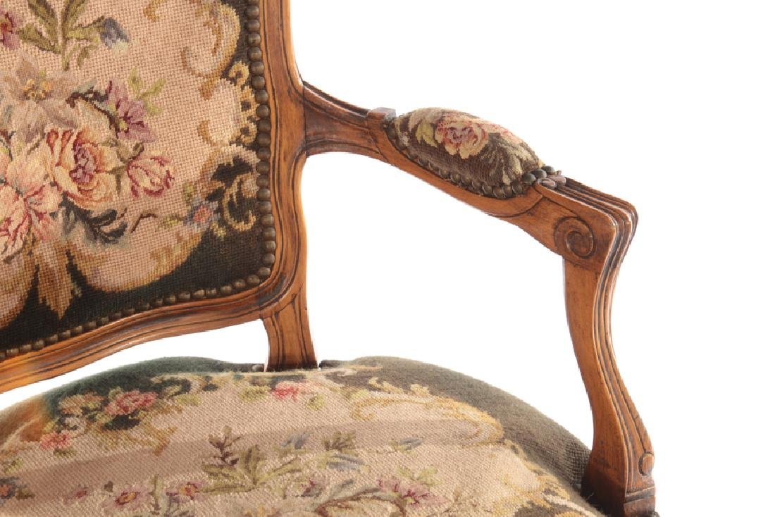 PR LOUIS XVI UPHOLSTERED ARM CHAIRS 1940 - 5