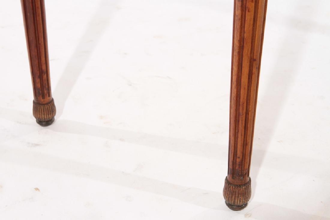 LOUIS XVI STYLE CONSOLE TABLE DEMILUNE TOP C.1940 - 5