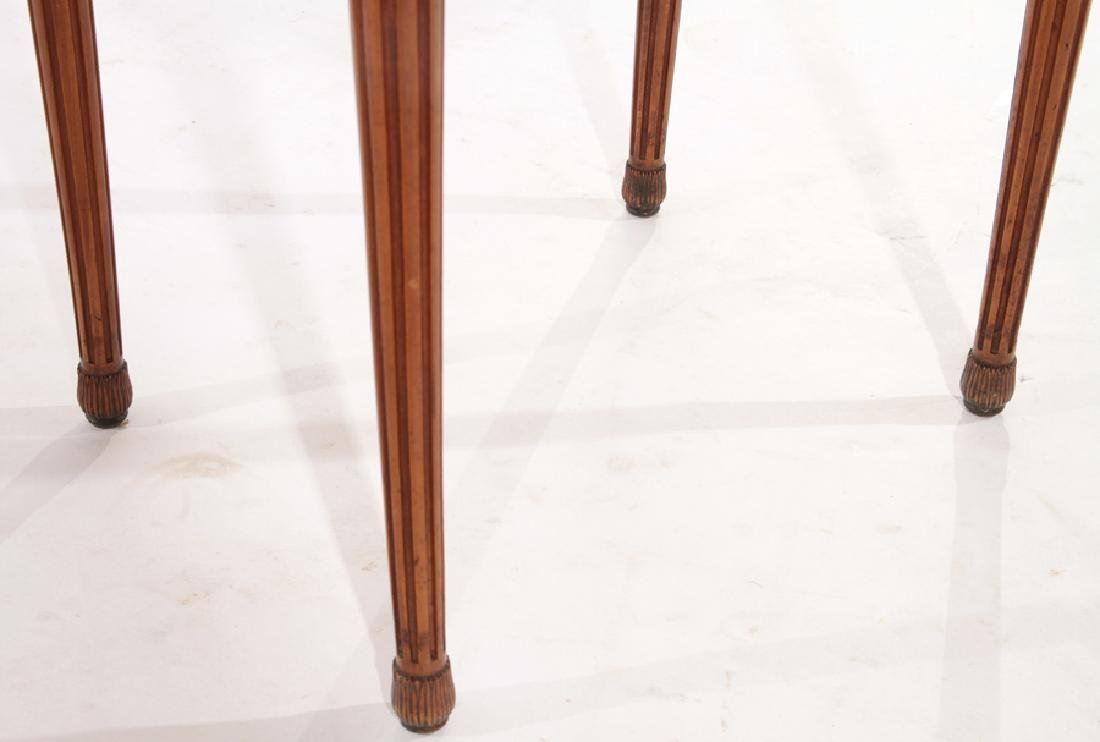 PAIR LOUIS XVI STYLE END TABLES MARBLE TOP C.1940 - 6