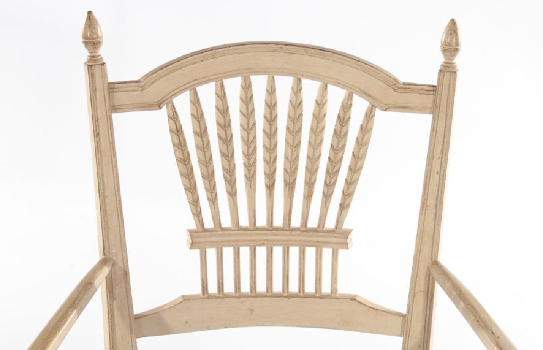 SET OF 8 CARVED AND PAINTED DINING CHAIRS - 5
