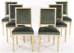 SIX LOUIS XVI STYLE DINING CHAIRS C1940
