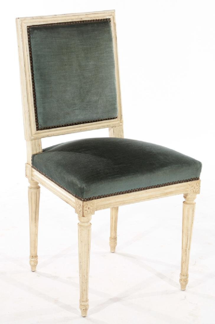 SIX LOUIS XVI STYLE DINING CHAIRS C.1940 - 2
