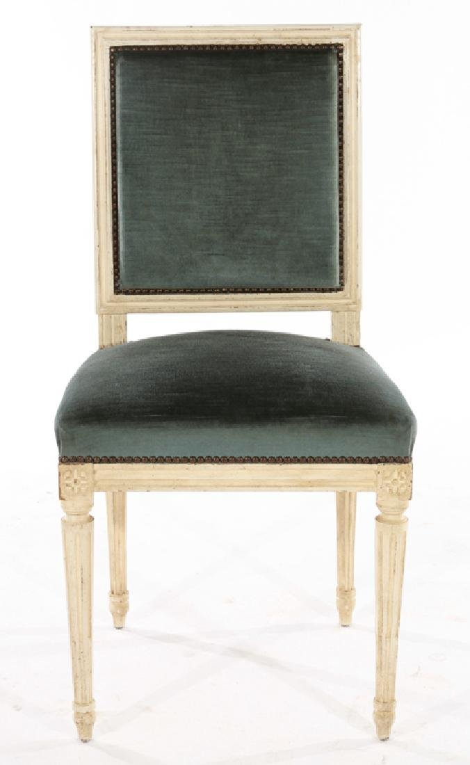 SIX LOUIS XVI STYLE DINING CHAIRS C.1940 - 3
