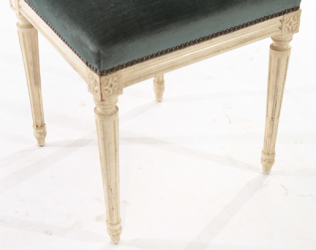 SIX LOUIS XVI STYLE DINING CHAIRS C.1940 - 5