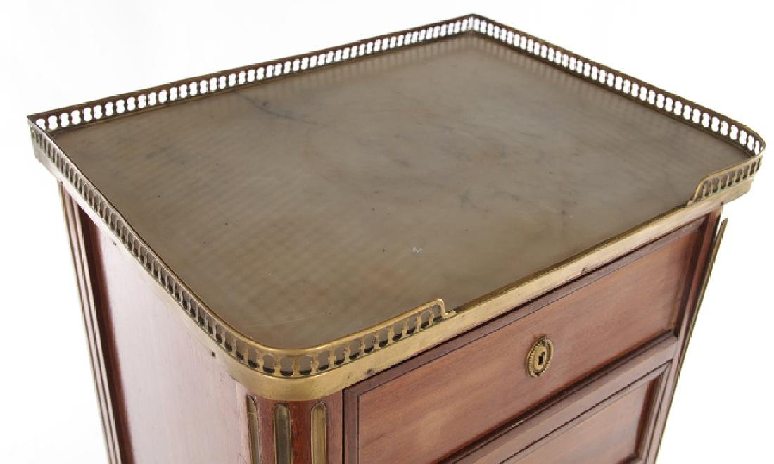 FRENCH MARBLE TOP BRONZE LINGERIE CHEST C.1940 - 3
