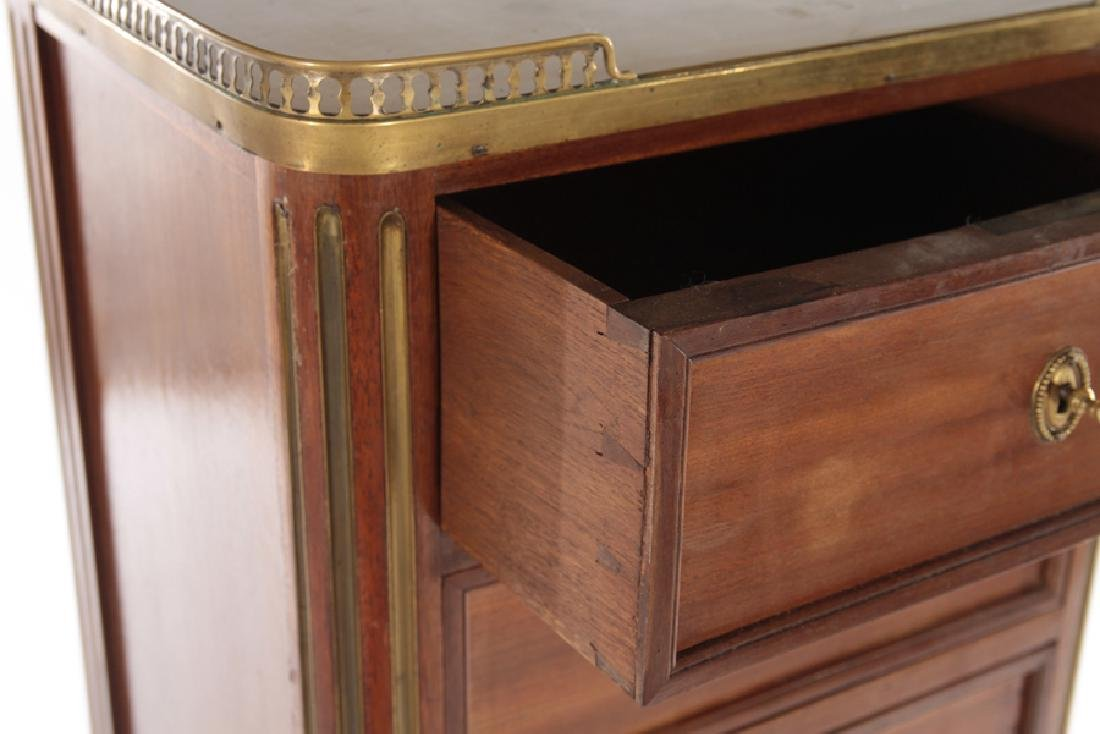 FRENCH MARBLE TOP BRONZE LINGERIE CHEST C.1940 - 4