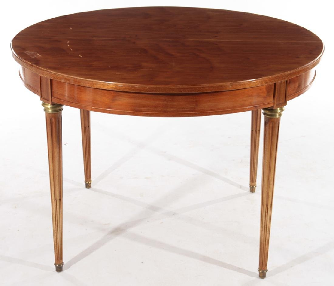 ROUND FRENCH MAHOGANY GAMES TABLE C.1950