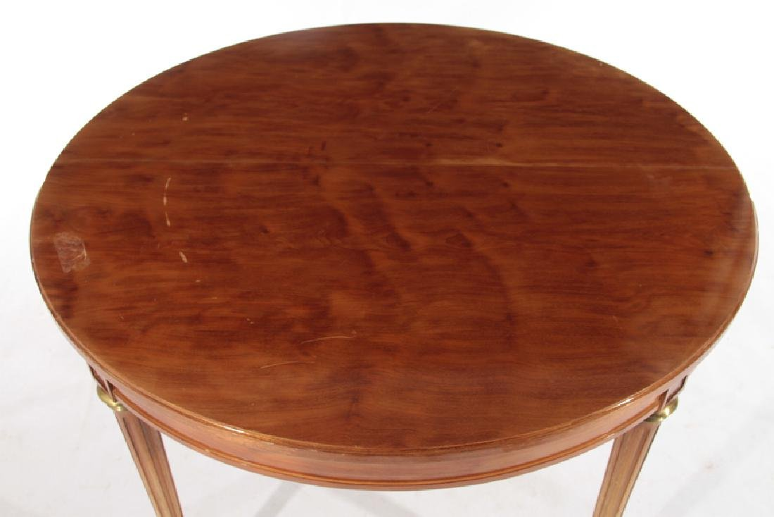 ROUND FRENCH MAHOGANY GAMES TABLE C.1950 - 2