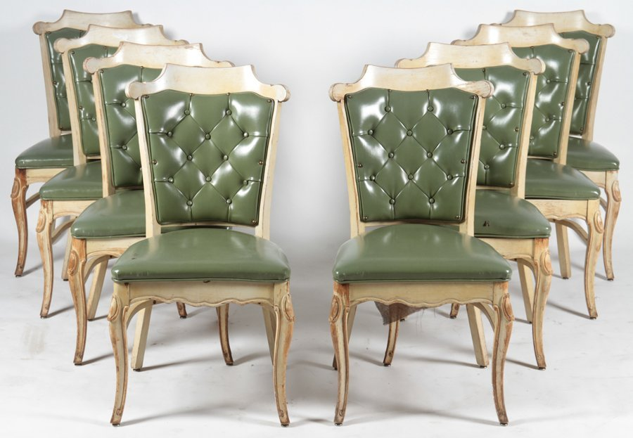SET OF 16 CARVED DINING CHAIRS C.1960 - 2