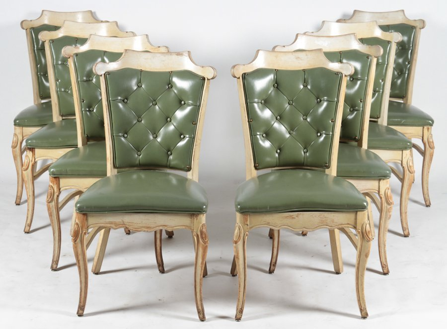 SET OF 16 CARVED DINING CHAIRS C.1960 - 3